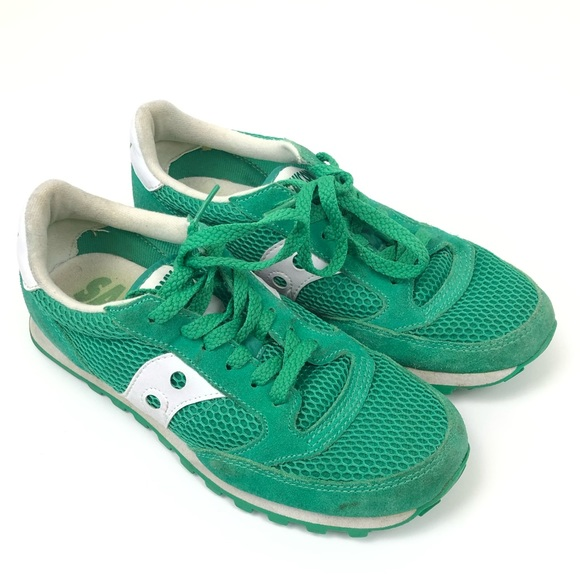check out 834de 325a3 Saucony Jazz Green & White Sneakers